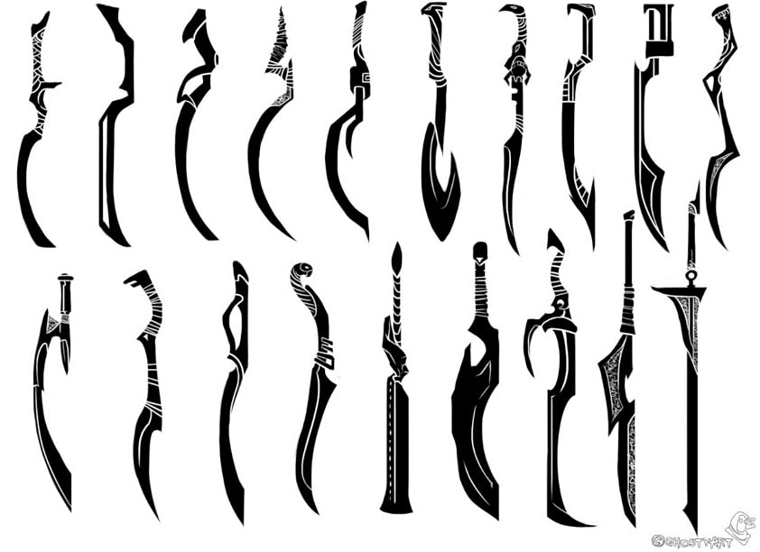 game weapon silhouettes