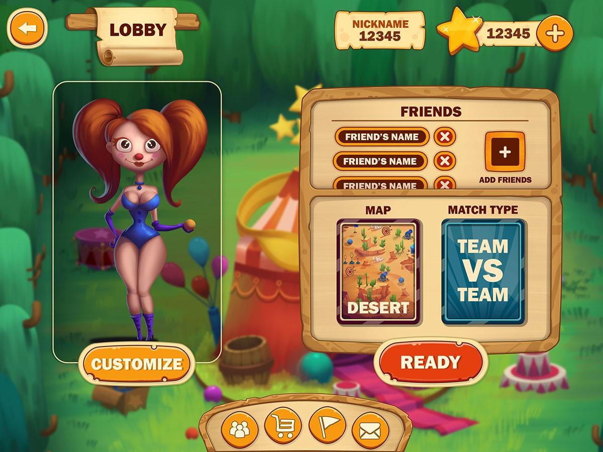 pixune game interface