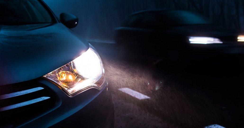 3d game vehicle lights - car in night - car under rain