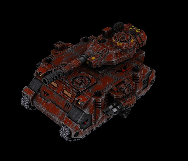 dawn of war 2 - game vehicle design - predator tank - Warhammer 40k