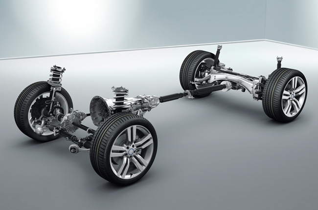 Car suspension chassis - 4 wheels