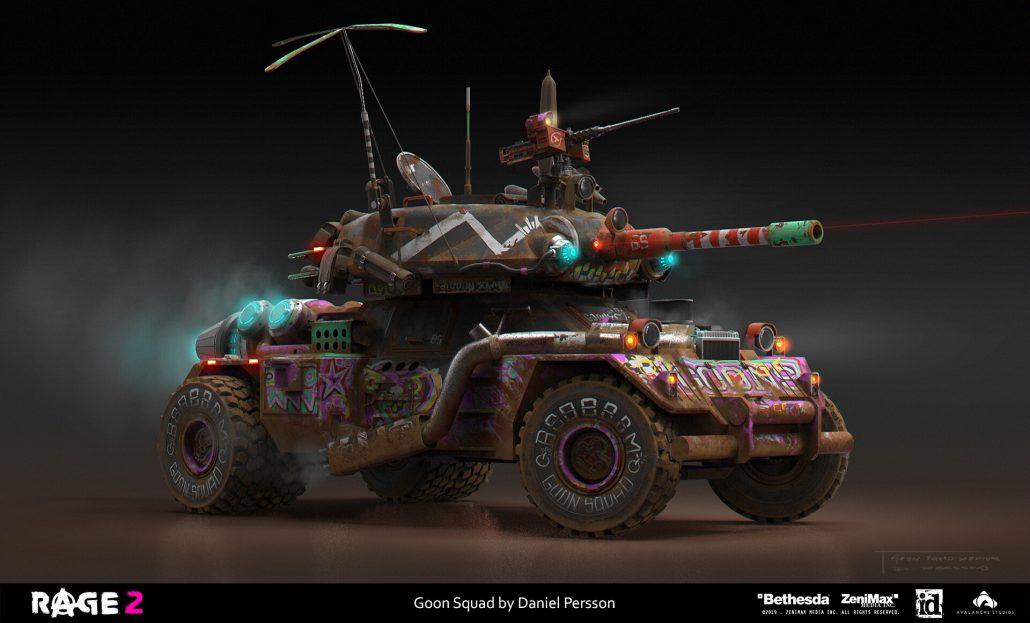 rage 2 - Bethesda - game vehicle design - combat vehicle