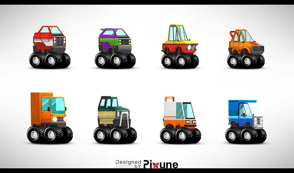 Game Vehicle Design Pixune - Vehicle upgrade