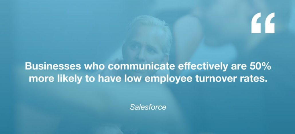 communication in business - employee turnover rate - infographic
