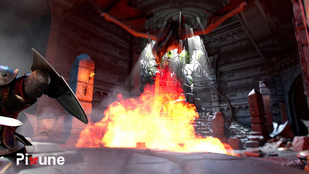Dragon Breathing Fire 3D FX Character Design 3D Animated Commercial