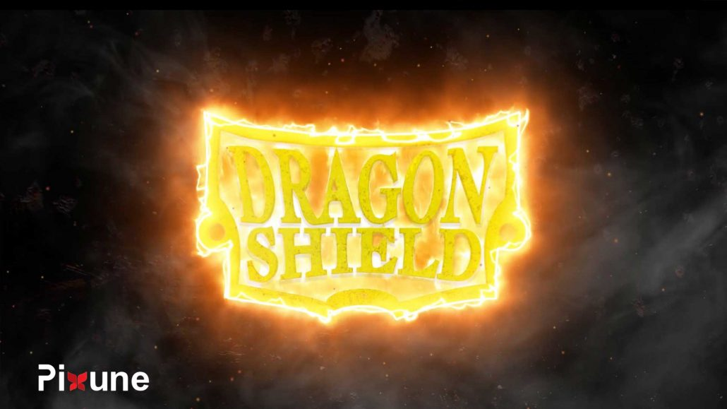 Dragon Shield Logo In Fire 3D VFX 3D Animated Commercial