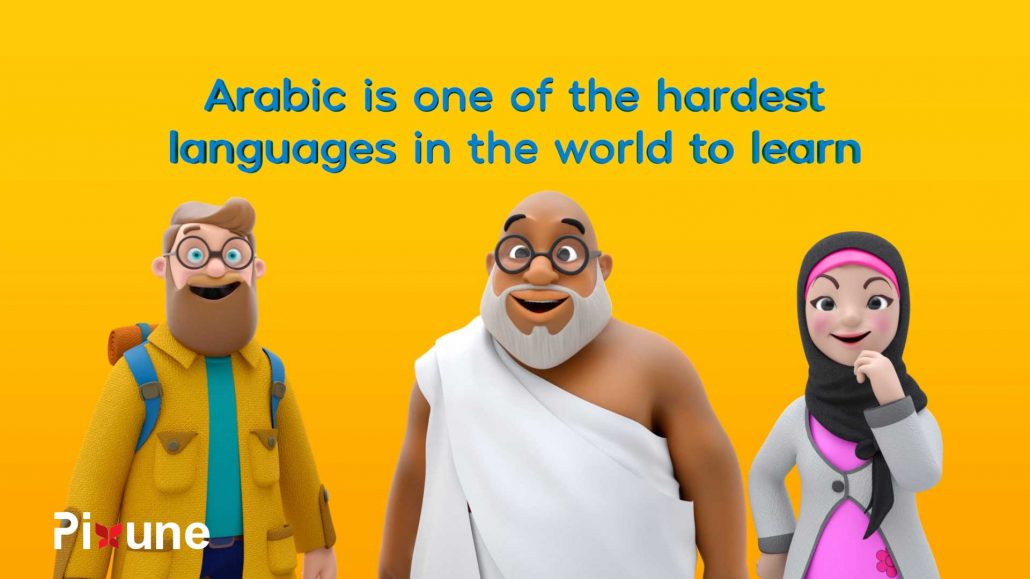 European Tourist Arab Man Arab Girl With HIjba Happy 3D Character Design 3D Animated Explainer Video