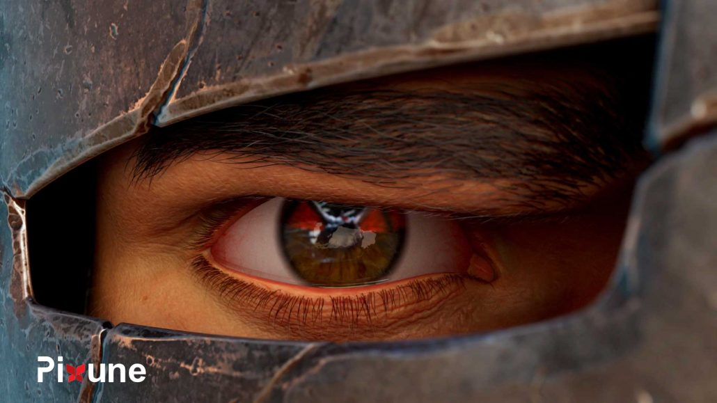 Knight Frown Eye 3D Character Design 3D Animated Commercial
