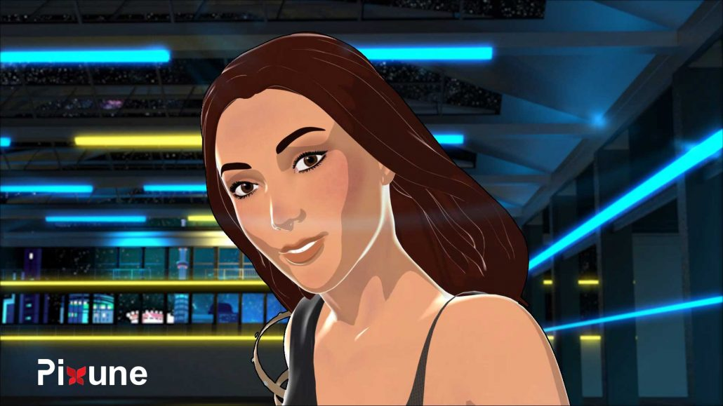 Latin Girl 3D Character Design 3D Animated Music Video Toon Render