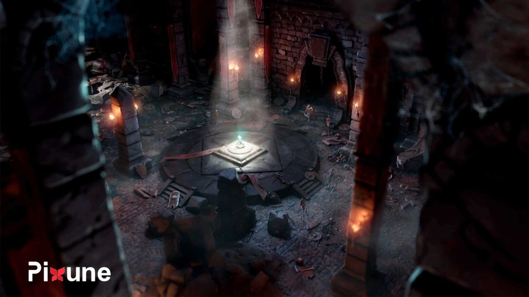 Ruined Dark Castle Hall 3D Environment Design 3D Animated Commercial