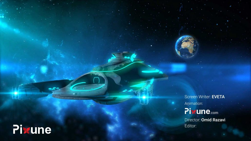 Spaceship Getting Back To Earth 3D Vehicle Design 3D Animated Music Video Toon Render